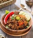 Nouilles frites par Asiatique Photographie stock libre de droits