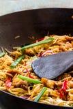 Nouilles frites par Stir Photo stock