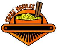 Nouilles Logo Cafe photo libre de droits