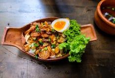 Nouilles thaïes Photo stock
