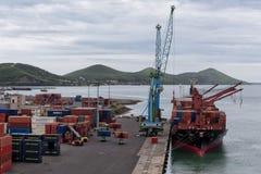Noumea-Docks Lizenzfreies Stockbild