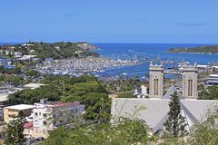 Noumea - New Caledonia, South Pacific. Panorama of Noumea- capital of New Caledonia, South Pacific stock photo