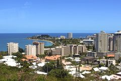 Noumea - New Caledonia, South Pacific. Panorama of Noumea- capital of New Caledonia, South Pacific stock image