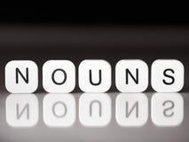Noun concept Stock Image
