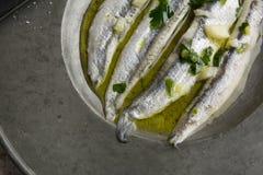 Noun in vinegar with garlic Stock Photography