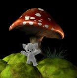 Nounours de champignon de couche Image libre de droits