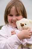 nounours de fille d'ours Images stock