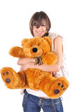 nounours de fille d'ours Photo stock