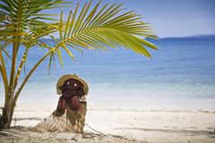 Nounours sur une plage Photo stock