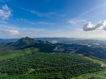 Nountain View in Thiland. Aerial View Stock Photo