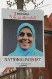 NOURA从NAATIONAL PQRTY的BENDALI _CADIDATE 免版税库存照片