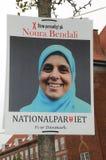 NOURA BENDALI _CADIDATE ΑΠΌ NAATIONAL PQRTY Στοκ Φωτογραφία