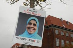 NOURA BENDALI _CADIDATE ΑΠΌ NAATIONAL PQRTY Στοκ Εικόνες