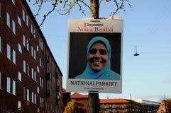 NOURA BENDALI _CADIDATE ΑΠΌ NAATIONAL PQRTY Στοκ φωτογραφία με δικαίωμα ελεύθερης χρήσης