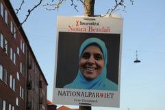 NOURA BENDALI _CADIDATE ΑΠΌ NAATIONAL PQRTY Στοκ Φωτογραφίες