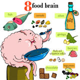 Nourish the brain. Vector Illustration Royalty Free Stock Image
