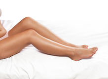 Nourished female legs Royalty Free Stock Images