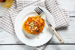 Nourishing pancakes with pumpkin Royalty Free Stock Image