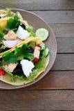 Nourishing pita with fish and salad Royalty Free Stock Photos