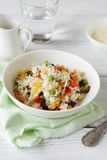 Nourishing rice with vegetables mix Royalty Free Stock Photos