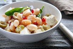 Nourishing salad with beans in a bowl Stock Photos