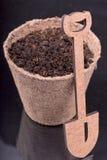 Nourishing the soil for planting, shovel Stock Images
