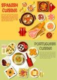 Nourishing spanish and portuguese dishes symbol Stock Image