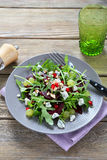 Nourishing vegetable salad on a plate Royalty Free Stock Photos