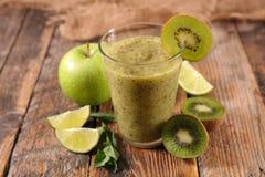 Nourishment fresh smoothie. On wood Stock Photo