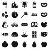 Nourishment icons set, simple style Stock Image