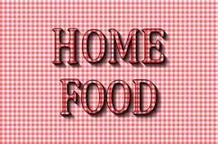 Nourriture à la maison La conception de lettrage à cuire Photo stock