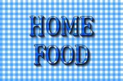 Nourriture à la maison La conception de lettrage à cuire Photographie stock