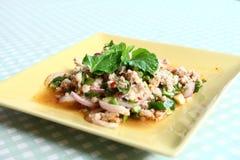 Nourriture épicée de type thaï, MOO de laboratoire. Photographie stock libre de droits