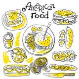 Nourriture américaine illustration libre de droits