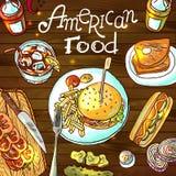 Nourriture américaine illustration stock