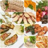 Nourriture - apéritif dans le restaurant gastronome Images libres de droits