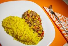 Nourriture aphrodisiaque pour des amants, avec la fourchette Images stock