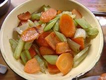 Nourriture asiatique : Céleri frit par carotte Photo libre de droits