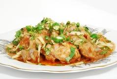 Nourriture asiatique de poulet Images libres de droits