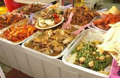 Nourriture asiatique sur l'affichage Images libres de droits