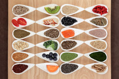 Nourriture biologique de musculation Photo libre de droits