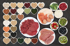 Nourriture biologique de musculation image libre de droits