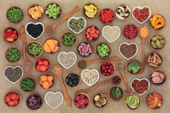 Nourriture biologique de régime image libre de droits