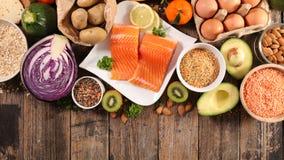 Nourriture biologique de sélection photos libres de droits