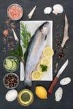Nourriture biologique de truite arc-en-ciel image stock