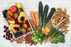 Nourriture biologique haute dans la fibre photos stock