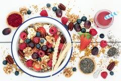 Nourriture biologique macrobiotique pour le petit déjeuner image libre de droits