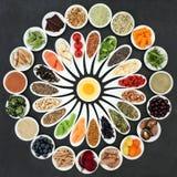 Nourriture biologique pour amplifier Brain Power photo libre de droits
