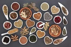 Nourriture biologique pour des femmes image stock