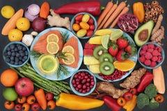 Nourriture biologique pour la forme physique de coeur Photos stock